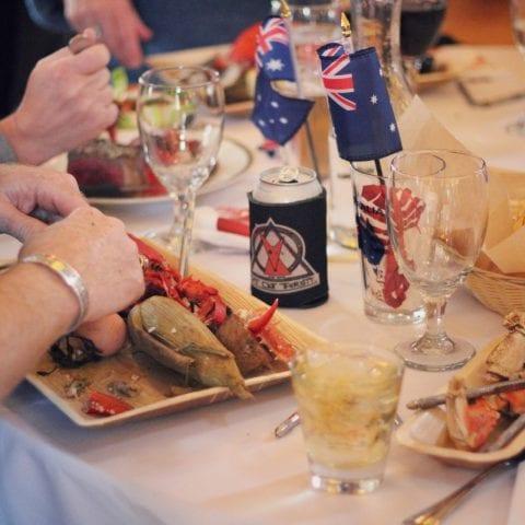 lobster bake close up